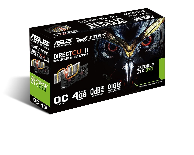ASUS STRIX GeForce GTX 970 Overclocked 4 GB DDR5 256-bit DisplayPort HDMI 2.0 DVI-I Graphics Card