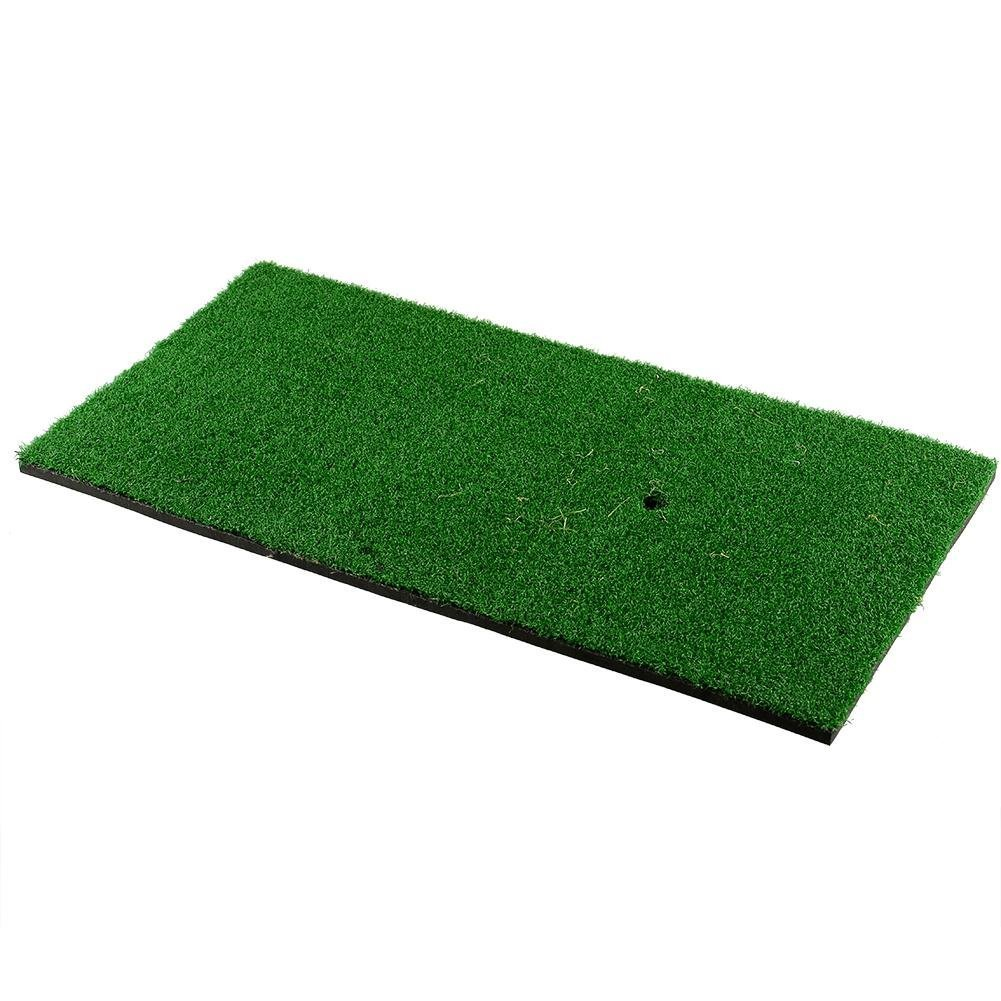 Relefree Backyard Golf Mat 12''x24'' Residential Training Hitting Pad Practice Rubber with Tee Hole Holder Grass