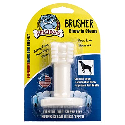 Bullibone Brusher: Dog Teeth Cleaning Brushing Toothbrush Stick