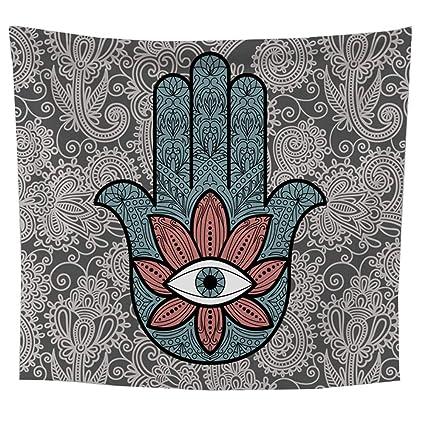 GX Símbolo de la Mano de Fátima con patrón de Mandala Hippie ...
