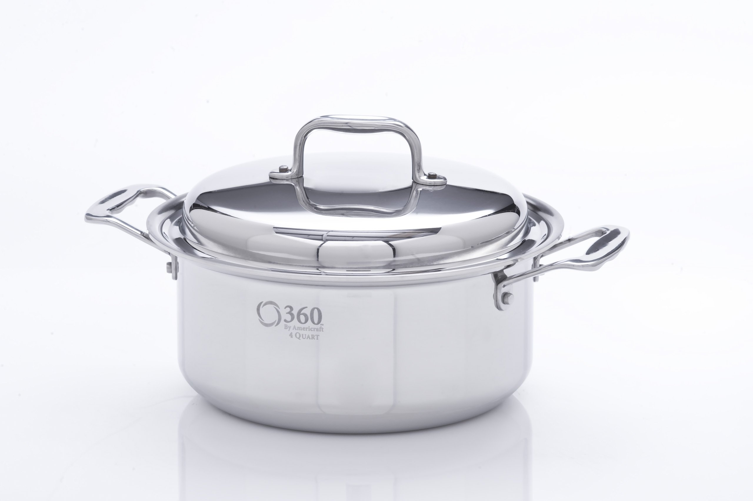 360 Cookware Stainless Steel Stockpot with Cover, 4-Quart by 360 Cookware