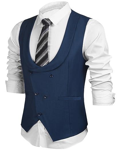 UNibelle Gilet da Uomo Gilet Doppio Petto Gilet da Lavoro Slim Fit Gilet  S-XXL  Amazon.it  Abbigliamento 5ae721aca8e