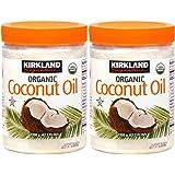 Two in Desc. Kirkland Organic coconut oil 1200g