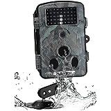 12MP Hunting Camera, Floureon 1080P HD Hunting Scouting Trail Waterproof Wildlife Record Video Camera Kamera Game Security PIR LED Night