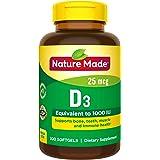 Nature Made 维生素D3 25 mcg(1000 IU)软凝胶 300粒 超大尺寸(包装可能有所不同)