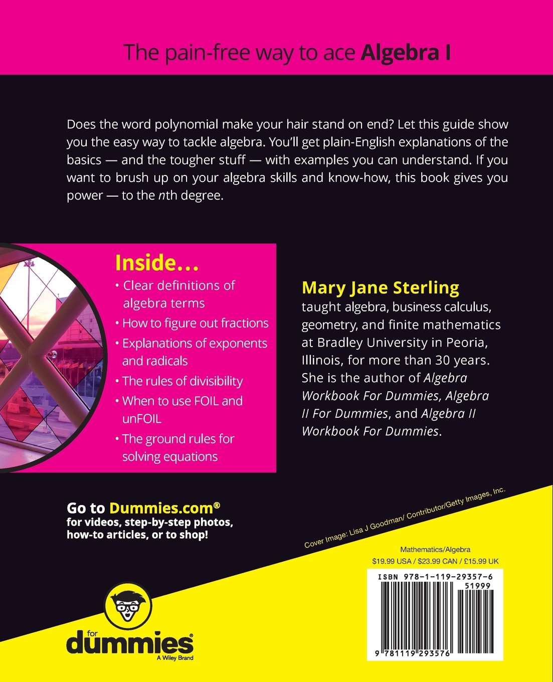 Algebra I For Dummies: Mary Jane Sterling: 9781119293576: Books  Amazon