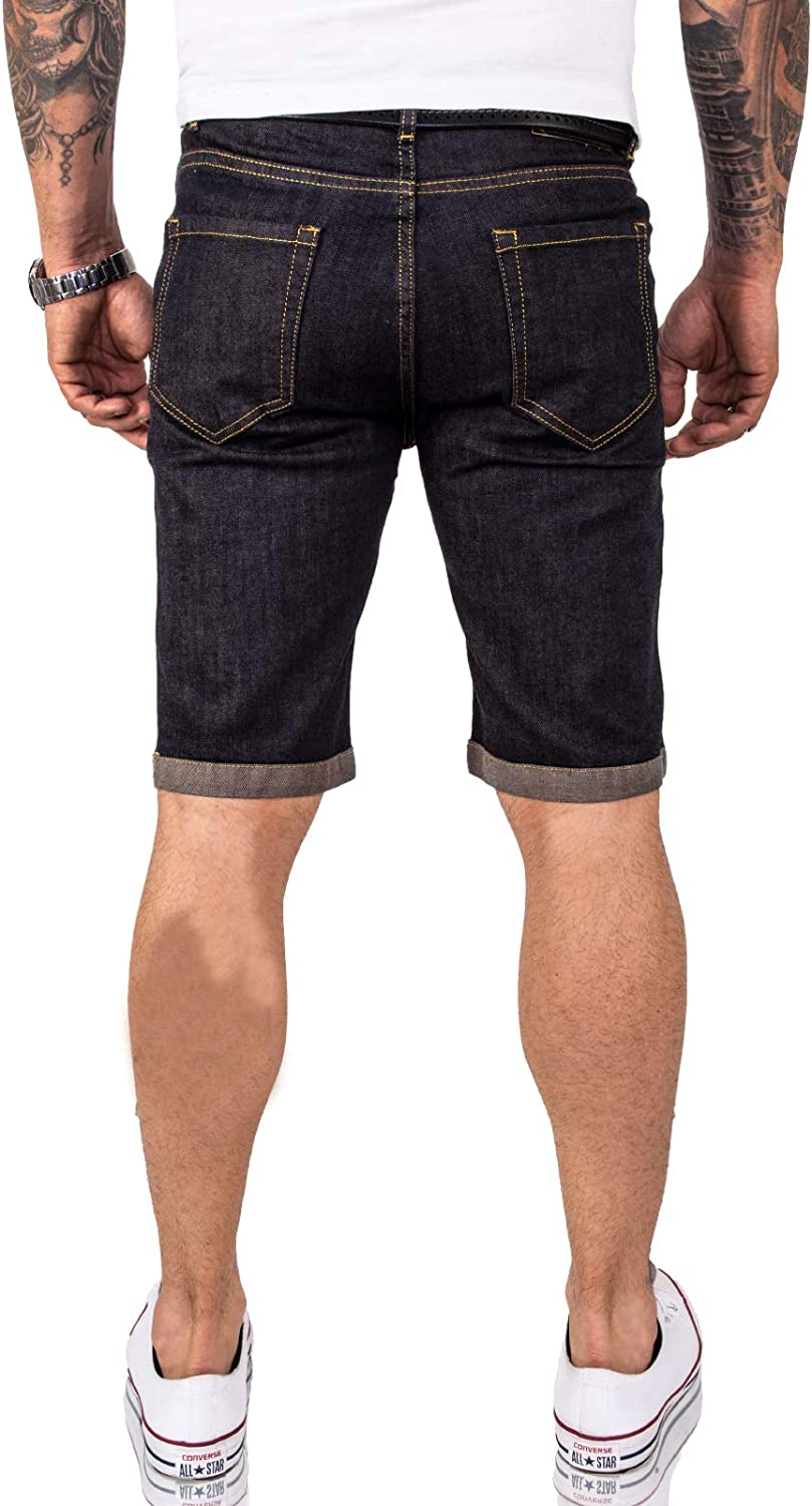 Rock Creek Pantalones Cortos para Hombres Shorts Denim M50