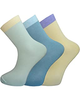 Pack of 3 OCTAVE® Womens Extra Fine Luxuriously Soft Silk Touch Bamboo Socks