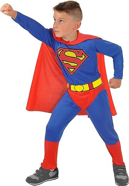 Ciao 11672.3-4 Disfraz de Superman para Niños Original Dc Comics (Tamaño 3-4 Años)