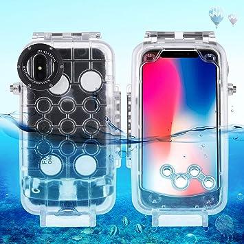 Estuche de buceo a prueba de agua bajo el agua Egurs para iPhone X iPhone XS,