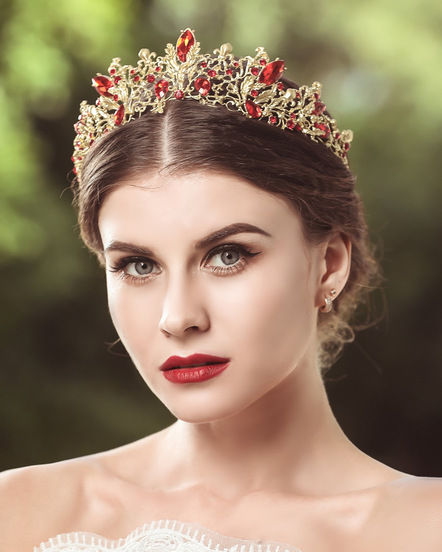 Jovono wedding corone e diademi principessa cristallo party accessori per capelli per donne