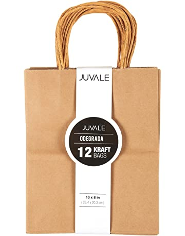 83e492c3009d44 12-Count Brown Kraft Bags - Paper Bags with Handles, Great as Wedding Favor