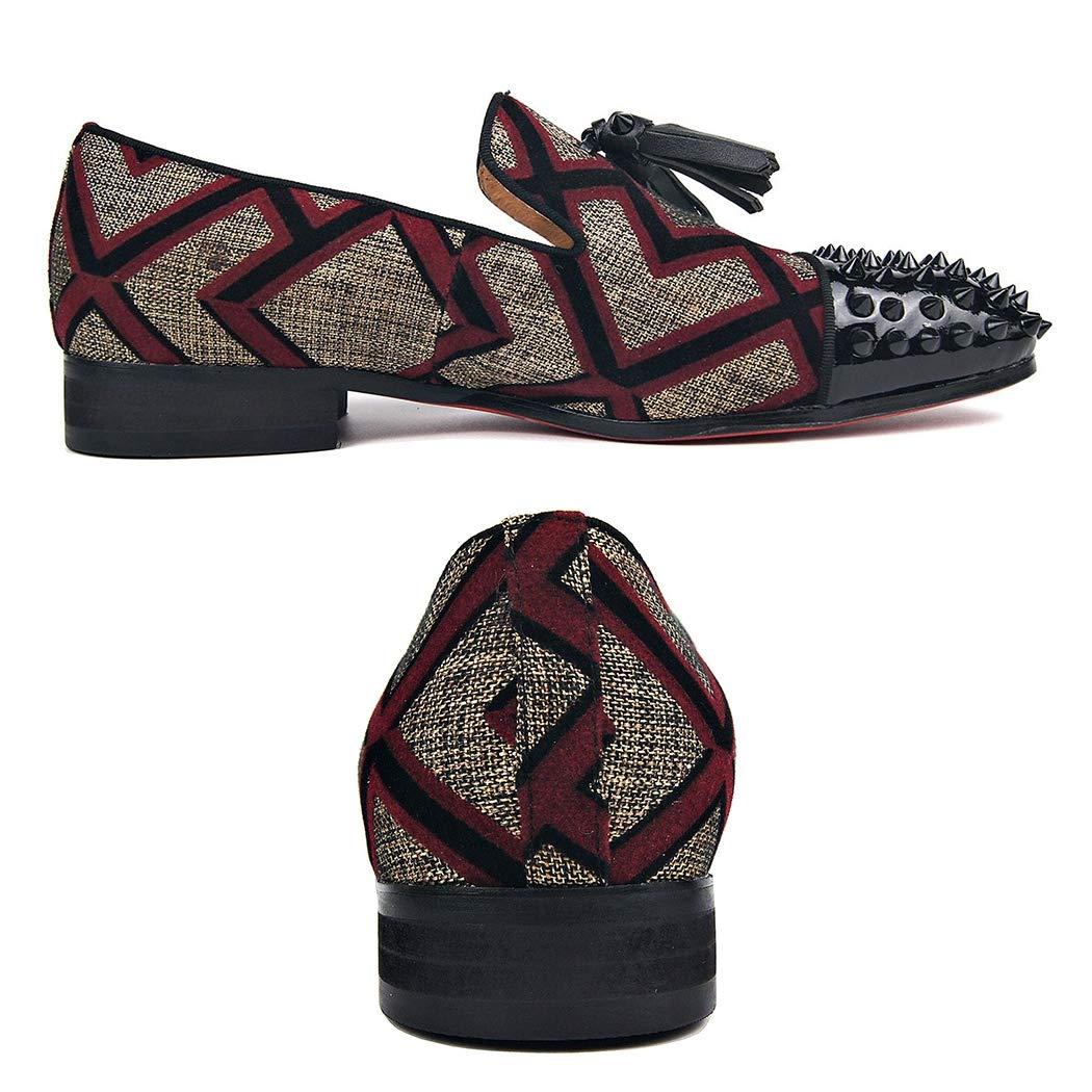 LYMYY Mens Rivet Shoes Handmade Retro Oxford Canvas Single Shoes Business Wedding Cl Shoes Slip Classic Designer Shoes