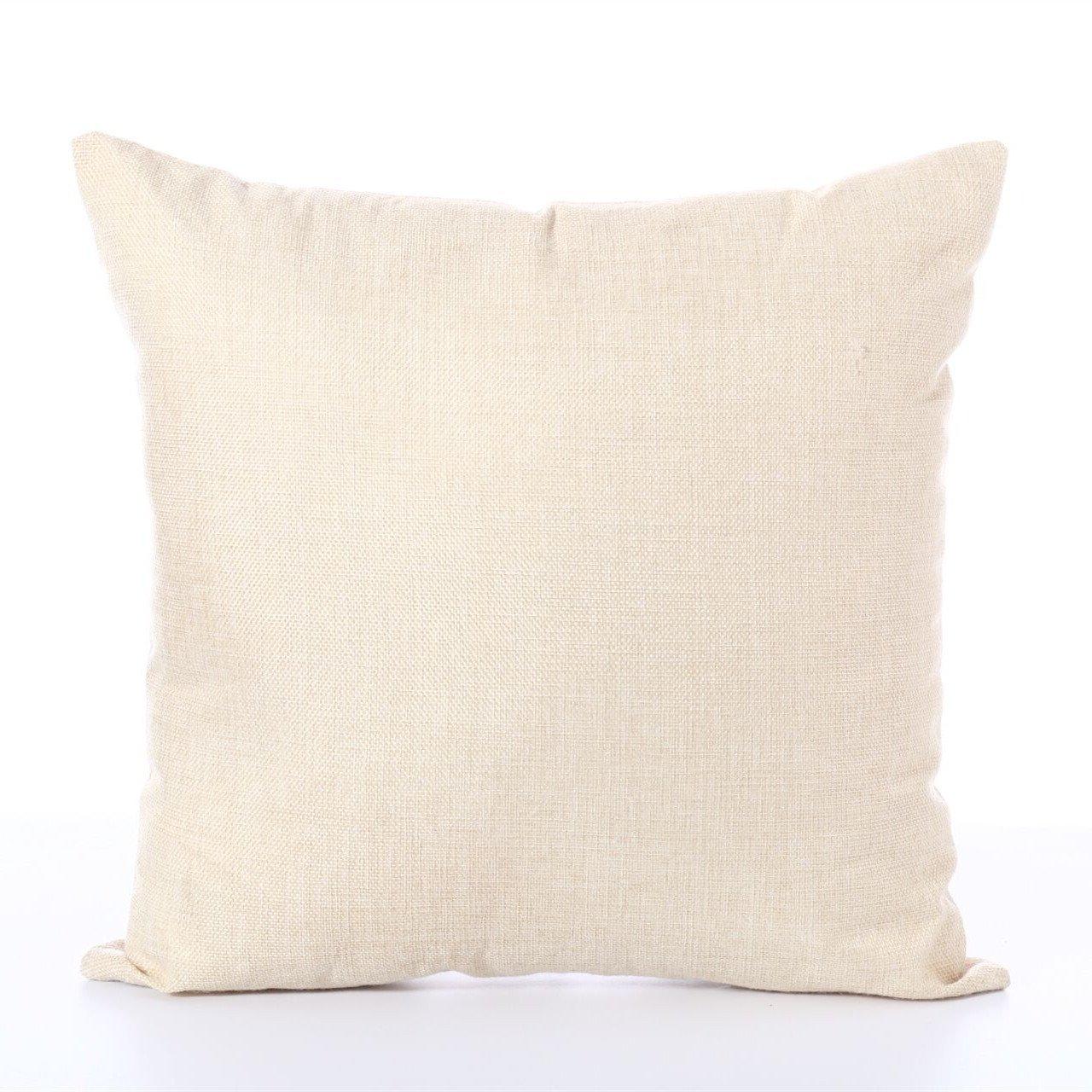 dodola Decorative Throw Pillow Covers Buddha Bamboo Cotton Linen Cushion Covers for Spa Meditation Yoga Room Decor 4Pcs