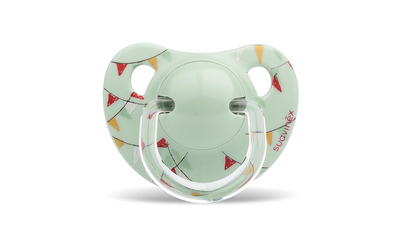 Suavinex - Chupete Tetina Anatómica Látex. Chupete 0-6 Meses. 0% BPA, Diseño Le Cirque Color Verde