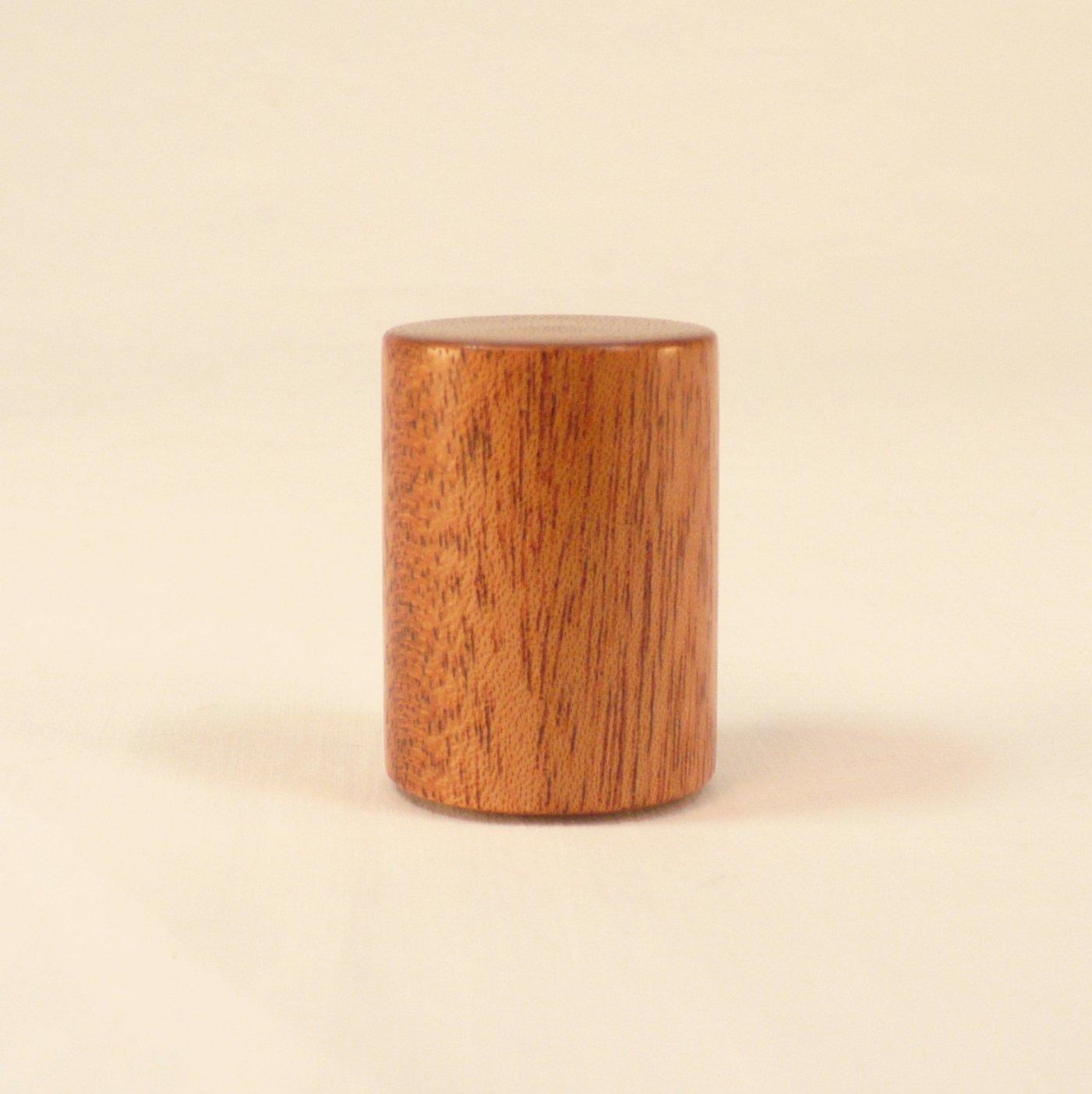 Lamp Finial, Mahogany, Drum Pattern 2
