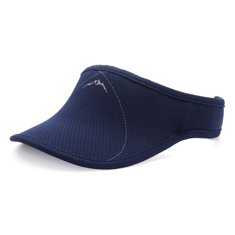 UShake Sports Sun Visor, Visors Hat for Man or Woman in Outdoor Golf Tennis Running Jogging Hiking (Navy Blue) by UShake