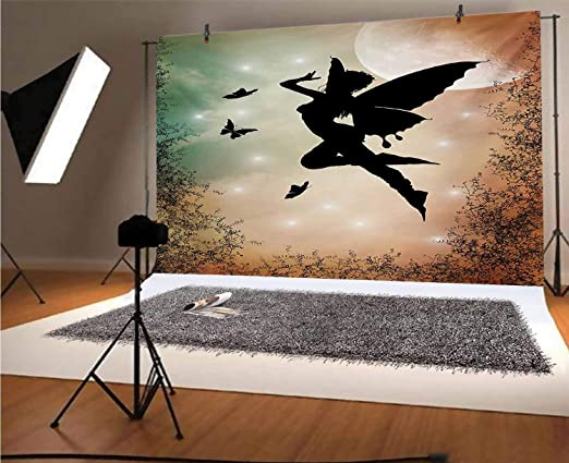 7x10 FT Vinyl Photography Background Backdrops,Butterfly with Rainbow Colors Fantasy Animal Artistic Dreamy Display Background for Graduation Prom Dance Decor Photo Booth Studio Prop Banner
