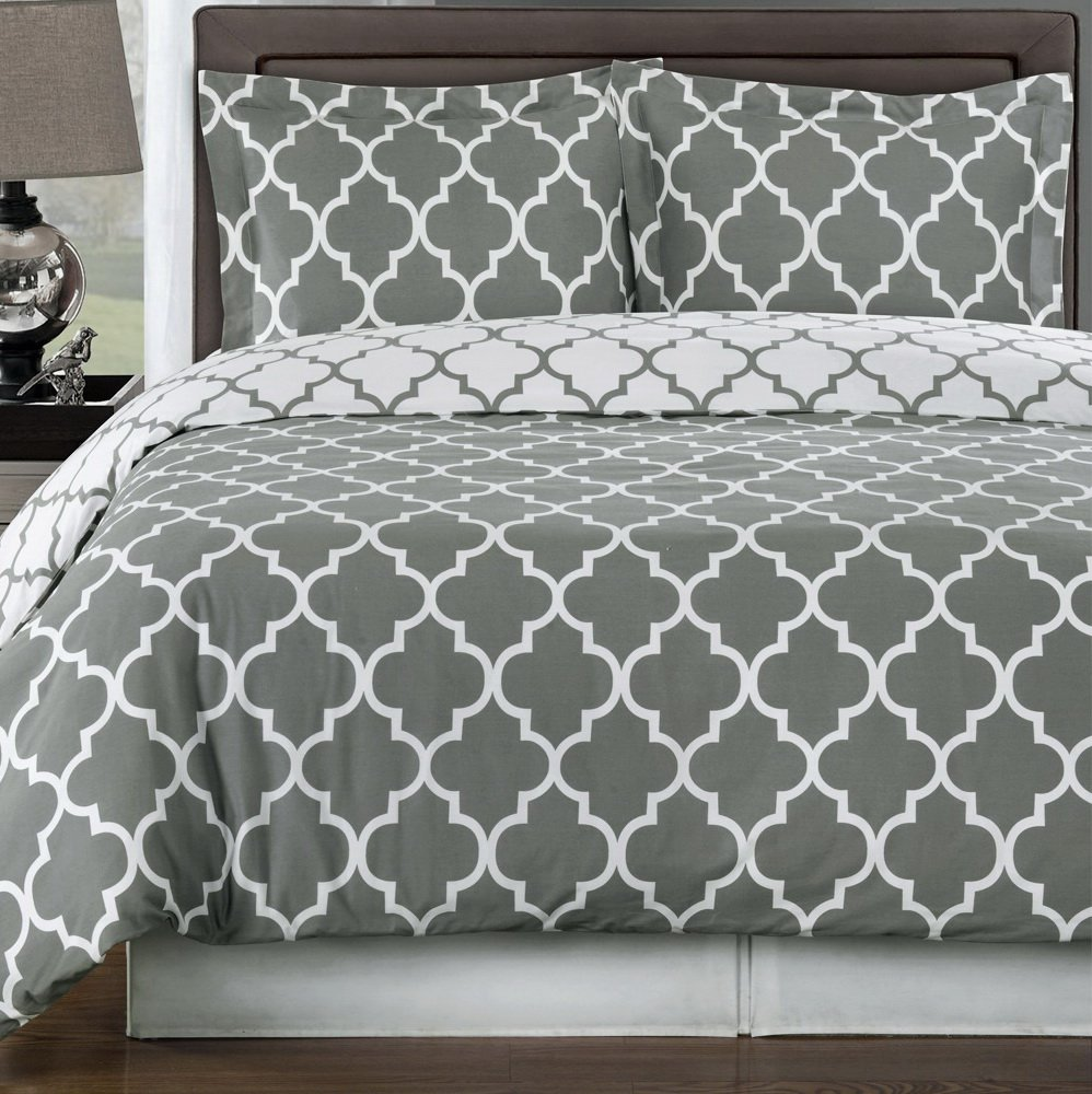 damask white grey medallions amazon duvet king dp home gray kitchen set tahari cover com marossy embroidered