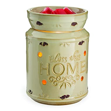 Candle Warmers Etc. Illumination Fragrance Warmer, Cream Bless This Home