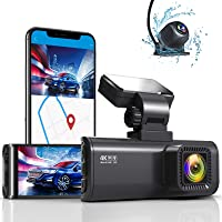 REDTIGER Dash Cam 4K Built in WiFi GPS Front 4K/2.5K Rear 1080P Dual Dash Camera for Cars 170° Wide Angle Dashboard…