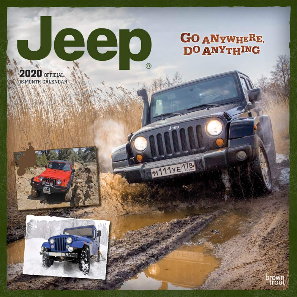 Jeep 2020 12 x 12 Inch Monthly Square Wall Calendar, Offroad Motor Car by Other Vehicles