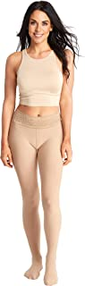 product image for Opaque Nude Fashion Tights   Comfortable Stay Up Top   Seven Sizes- Plus Sizes