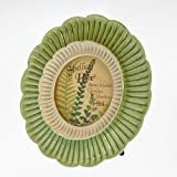 Home Accents Double Layer Round Scallop Picture Frame / Photo Frame 4 x 4 (Green and White)