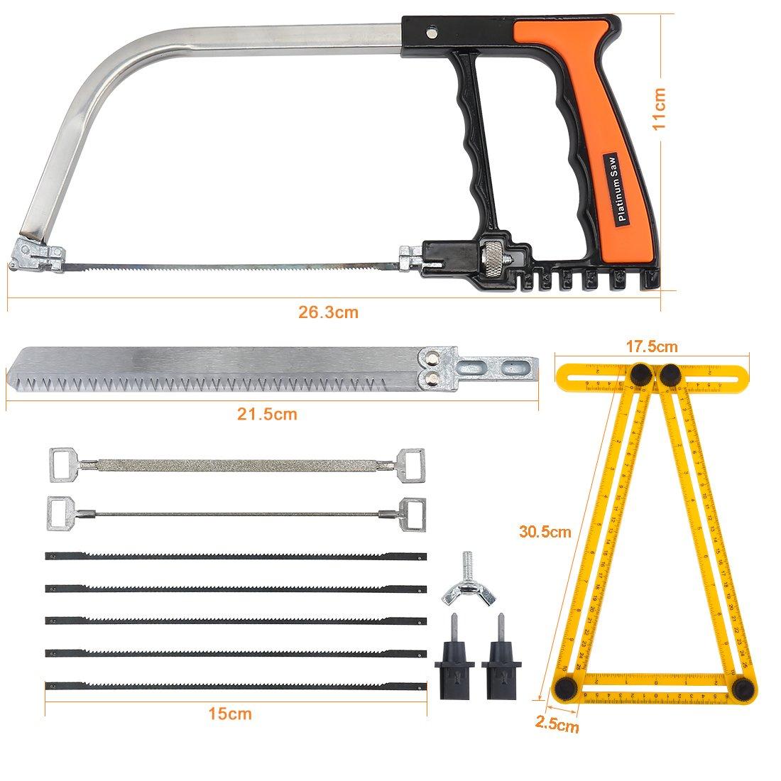 Handsaws Set, Four Fold Ruler, Multifunction Bow Saw +Angle Measuring Ruler for Engineer Handymen Builders Craftsmen by SILIVN by SILIVN (Image #2)