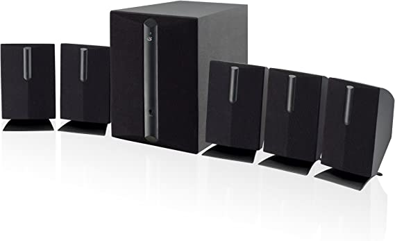 GPX HT050B 5.1 Channel Home Theater Speaker System (Black)