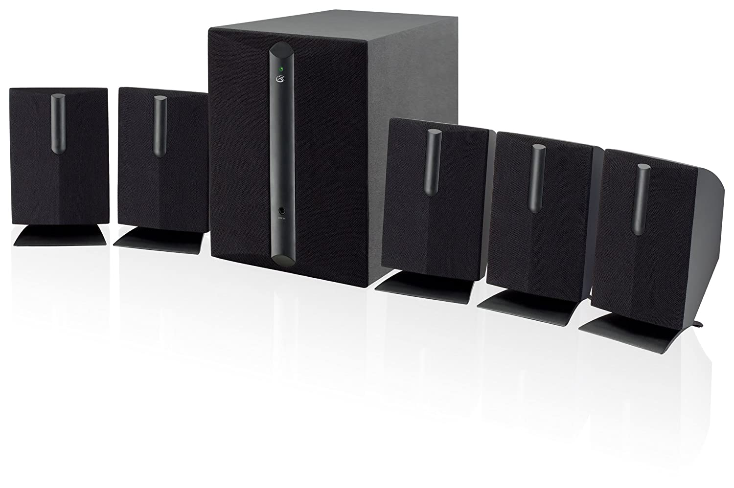 iLive DPI HT050B 5.1 Channel Home Theater Speaker System (6 Speaker, Black) DPI Inc.