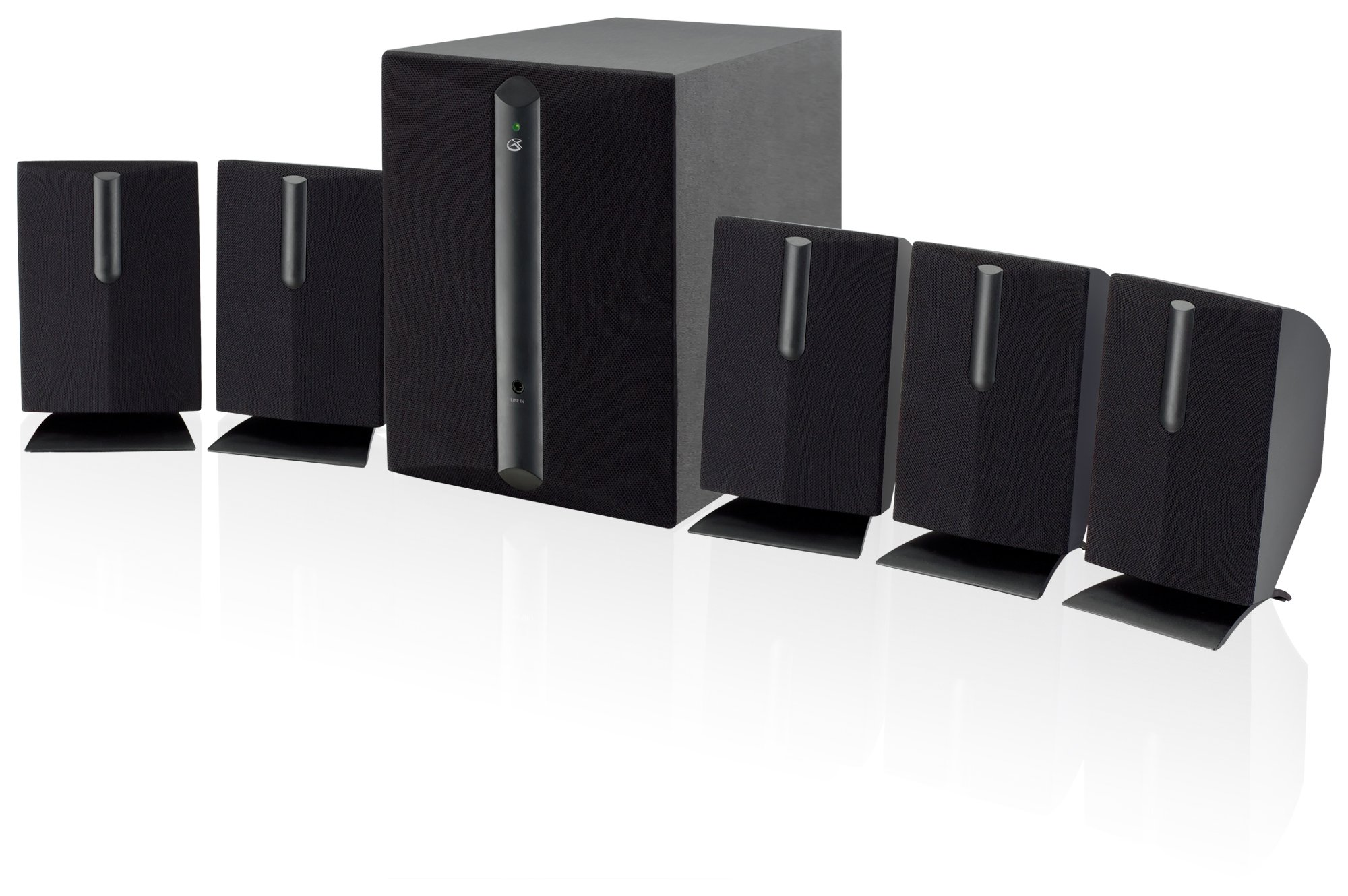 GPX HT050B 5.1 Channel Home Theater Speaker System (Black) by GPX