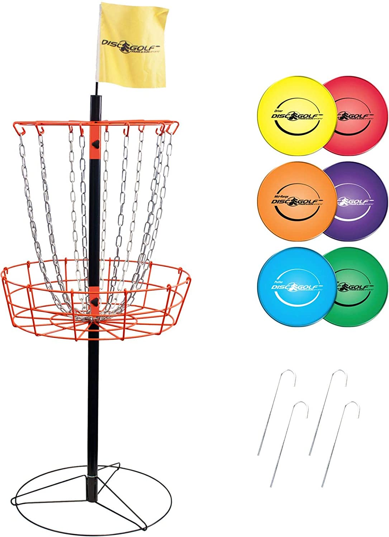 Park & Sun Sports ポータブルディスクゴルフバスケットとディスクセット B07NPSFFYC