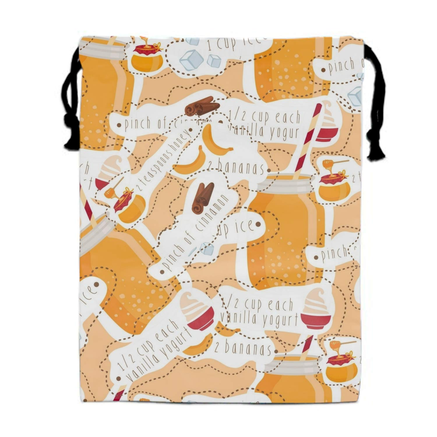 Smoothie Patterned Drawstring Pouches Candy Jewelry Party Wedding Favor Present Bags 15.75/11.8''''