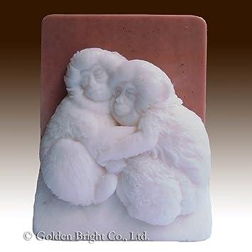 Monos Abrazando - 2d/de polímero de silicona jabón/arcilla/porcelana fría Mold: Amazon.es: Juguetes y juegos