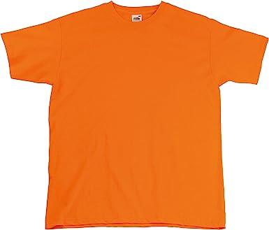 Fruit of the Loom - Camiseta Básica de Manga Corta Hombre (3XL/Naranja)