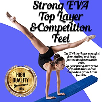 Amazon.com: Junior Gymnastics viga de 8 pies de largo con ...