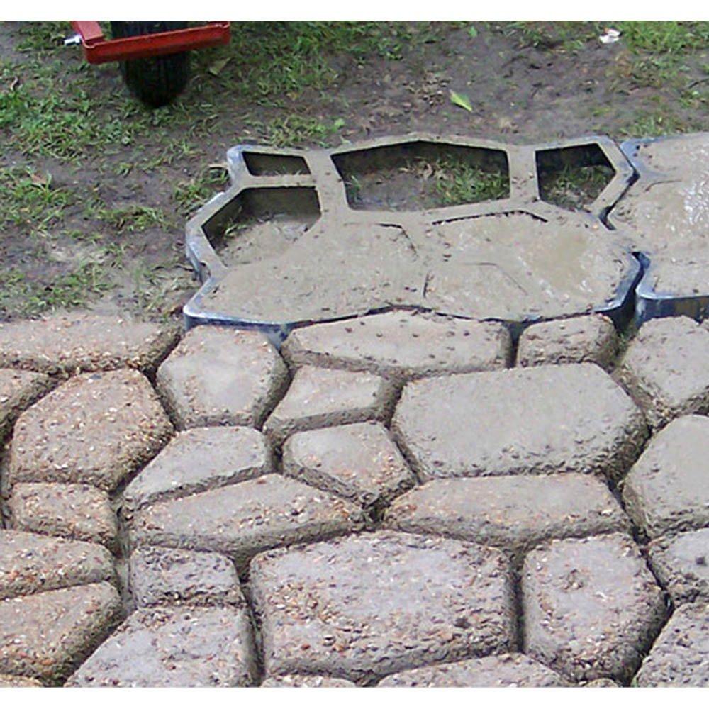 Vingo® D.I.Y tiritas Forma Aceras hormigón tiritas Fundición para jardín Plantilla 43 x 43 x 4 cm: Amazon.es: Bricolaje y herramientas