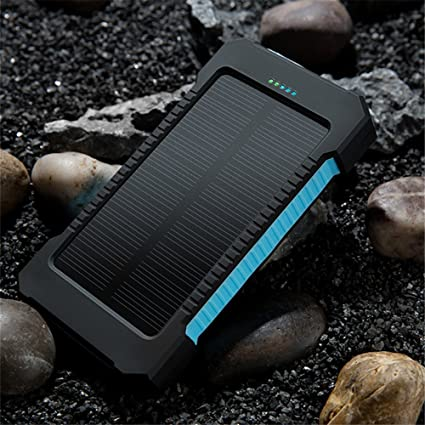 Powerbank Solarladefunktion Outdoor mobilen Ladegerät 12000mAh Wasserdicht NEU