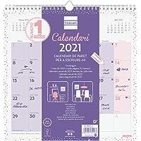 Finocam - Calendario de pared 2021 Escribir Chic Morado Catalán