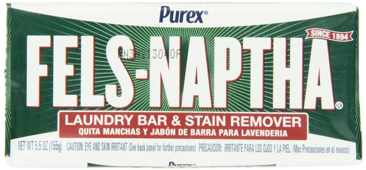 Fels Naptha 04303 Lot of 4 Heavy Duty Laundry Soap One 5.5 Ounce Bar by Unknown