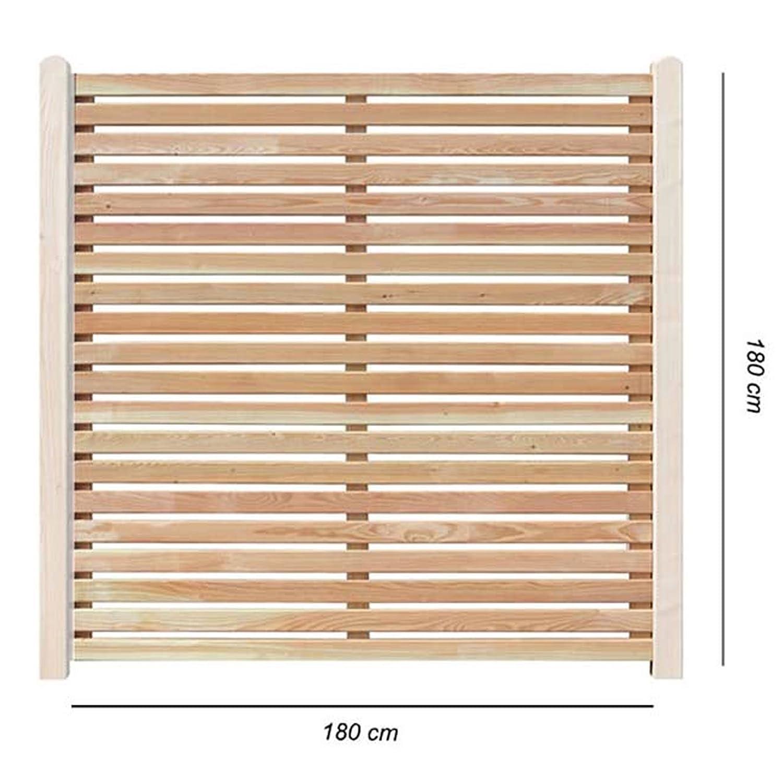 Sichtschutzzaun 180x180 cm aus Lärchenholz Bausatz Zaunelement zum