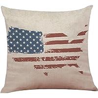 Loolik Fundas de Cojines,Bandera Americana Fundas de Almohadas
