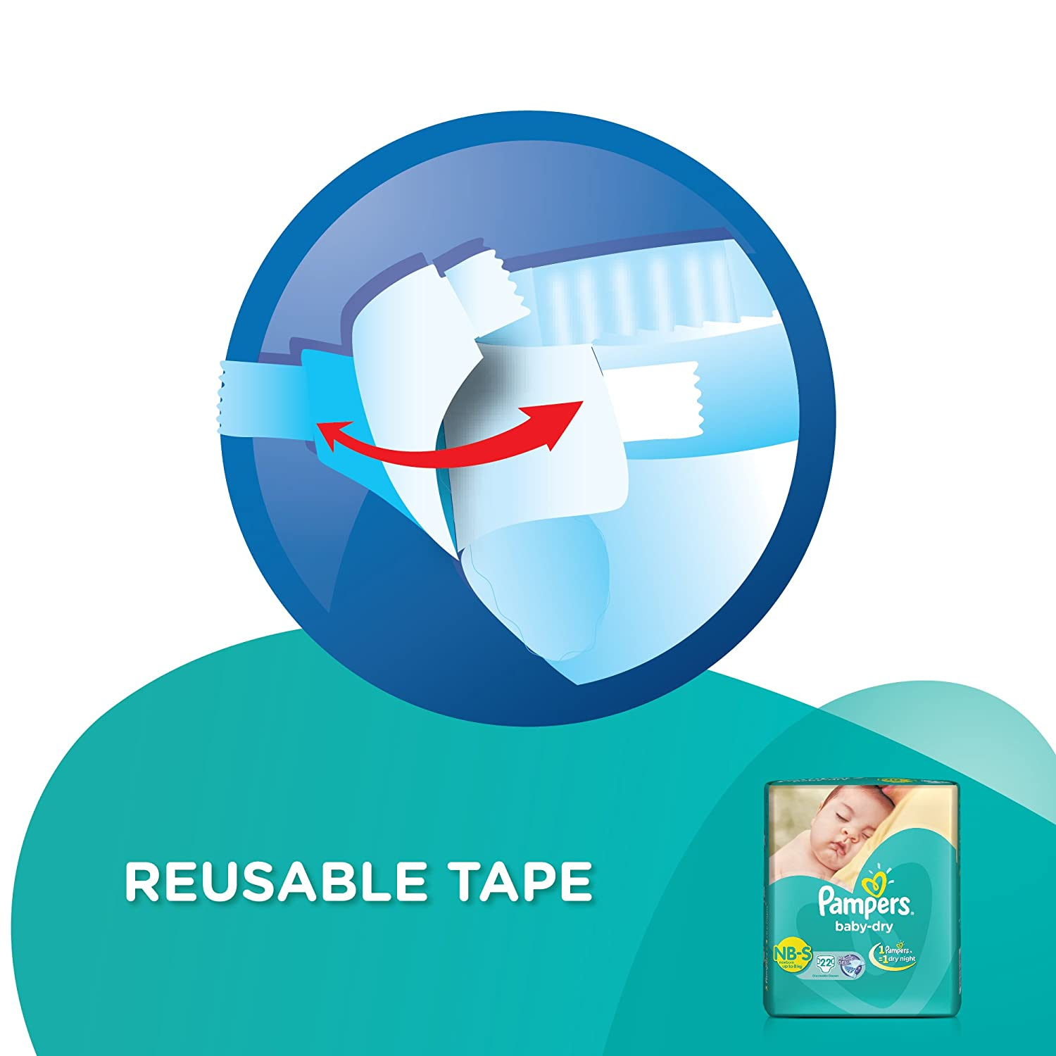 Pampers Small Size Diapers 22 Count Cloudtail India Premium Care Tape Nb 52