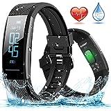 Fitnessarmband ELEGIANT fitness tracker hartslagmeter waterdicht IP67 smartwatch stappenteller activiteitstracker polshorloge sporthorloge dames heren oproepen sms WhatsApp trilalarm voor iPhone en Android