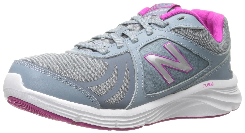New Balance Women's WW496V3 Walking Shoe-W CUSH + Walking Shoe B012GZN832 7 D US|Grey/Pink
