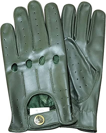 Slim Fit Retro Style Soft Real Leather Mens Driving Gloves Unlined Chauffeur 507