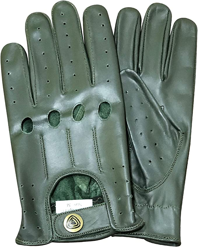 MEN/'S CHAUFFEUR REAL SHEEP NAPPA LEATHER CAR DRIVING GLOVES TRUCKING RIDING COS