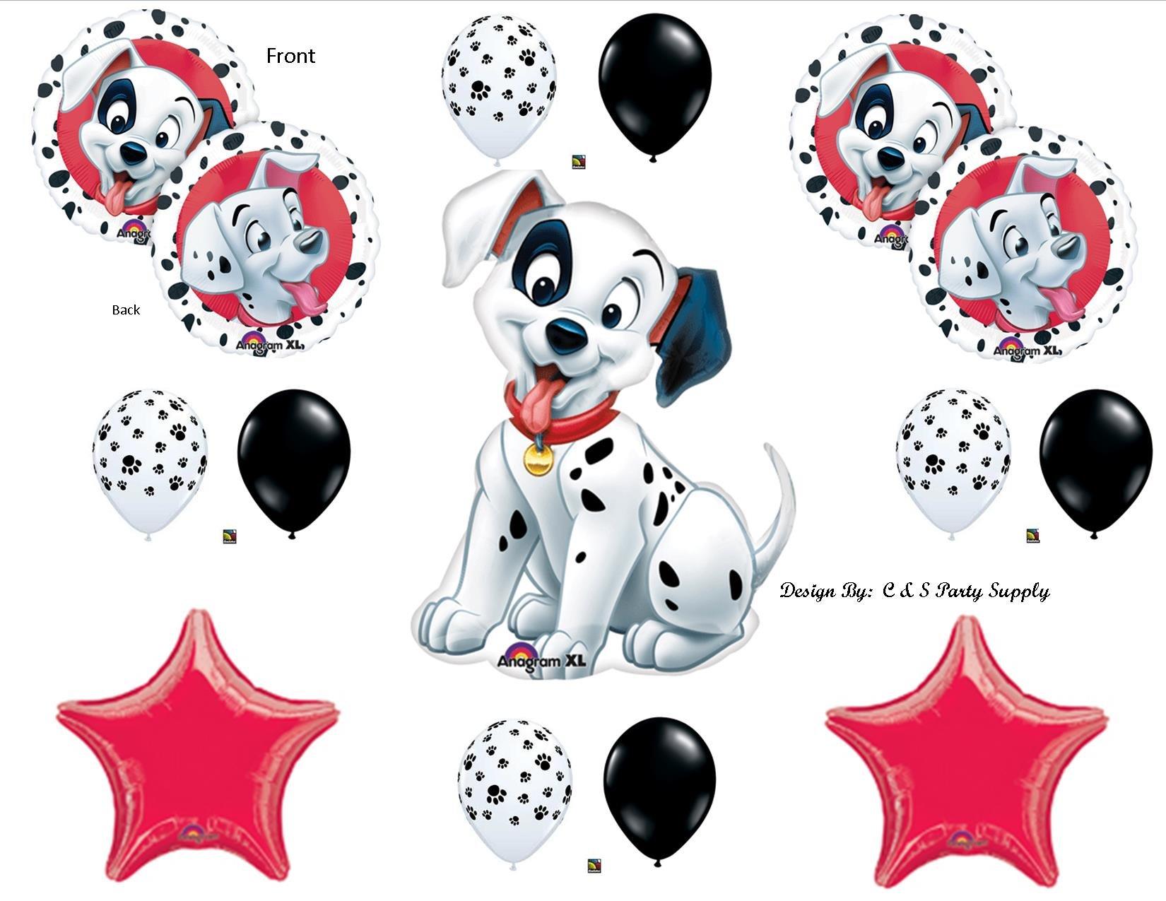 RED 18, LA Balloons Foil Balloon 201686-RED HAPPY BIRTHDAY DALMATIANS