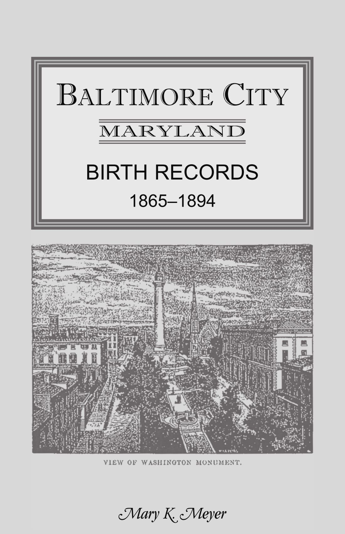 Baltimore City Birth Records 1865-1894 pdf epub